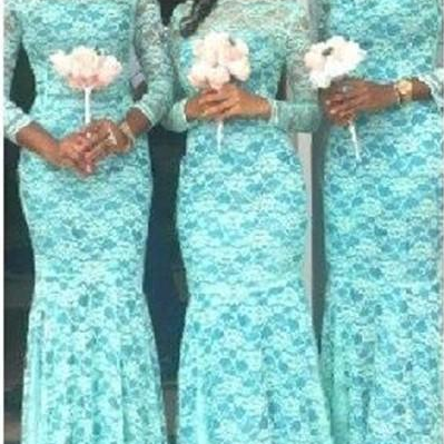 Illusion Long Sleeve Bridesmaid Dre..