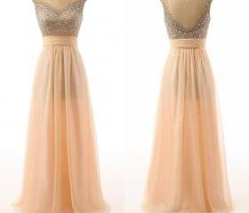 Peach Sheer Neckline..