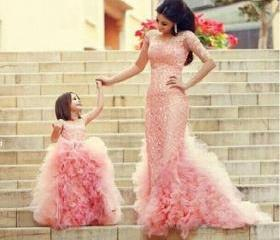Blush Ball Gown Lace..
