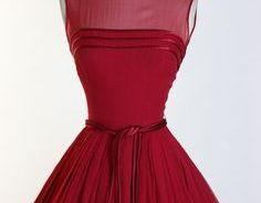 Sheer Neck Red Homec..