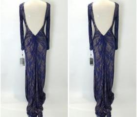 Fashion Navy Lace Nu..