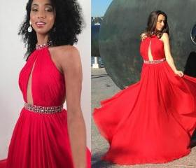 All Red Evening Dres..