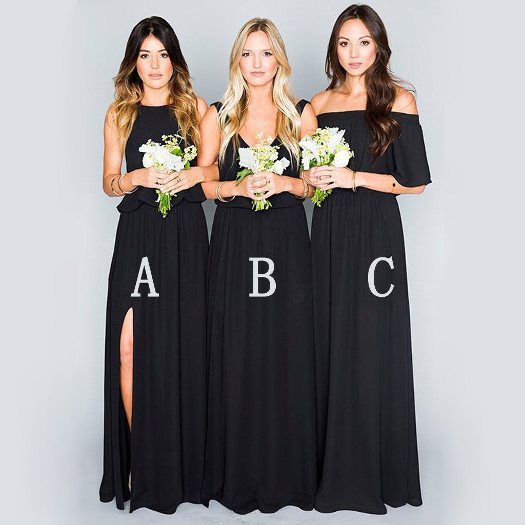 4069fb6c310 2018 Cheap Bridesmaid Dresses Off The Shoulder Backless Chiffon Long Wedding  Dress For Bridesmaids Party Dresses Prom Dress Long