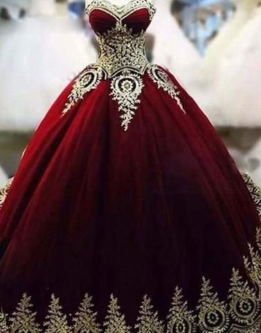 Gold Wedding Dresses.Burgundy And Gold Wedding Dresses African Women Wedding Dresses Strapless Wedding Gowns Applique Bridal Dress