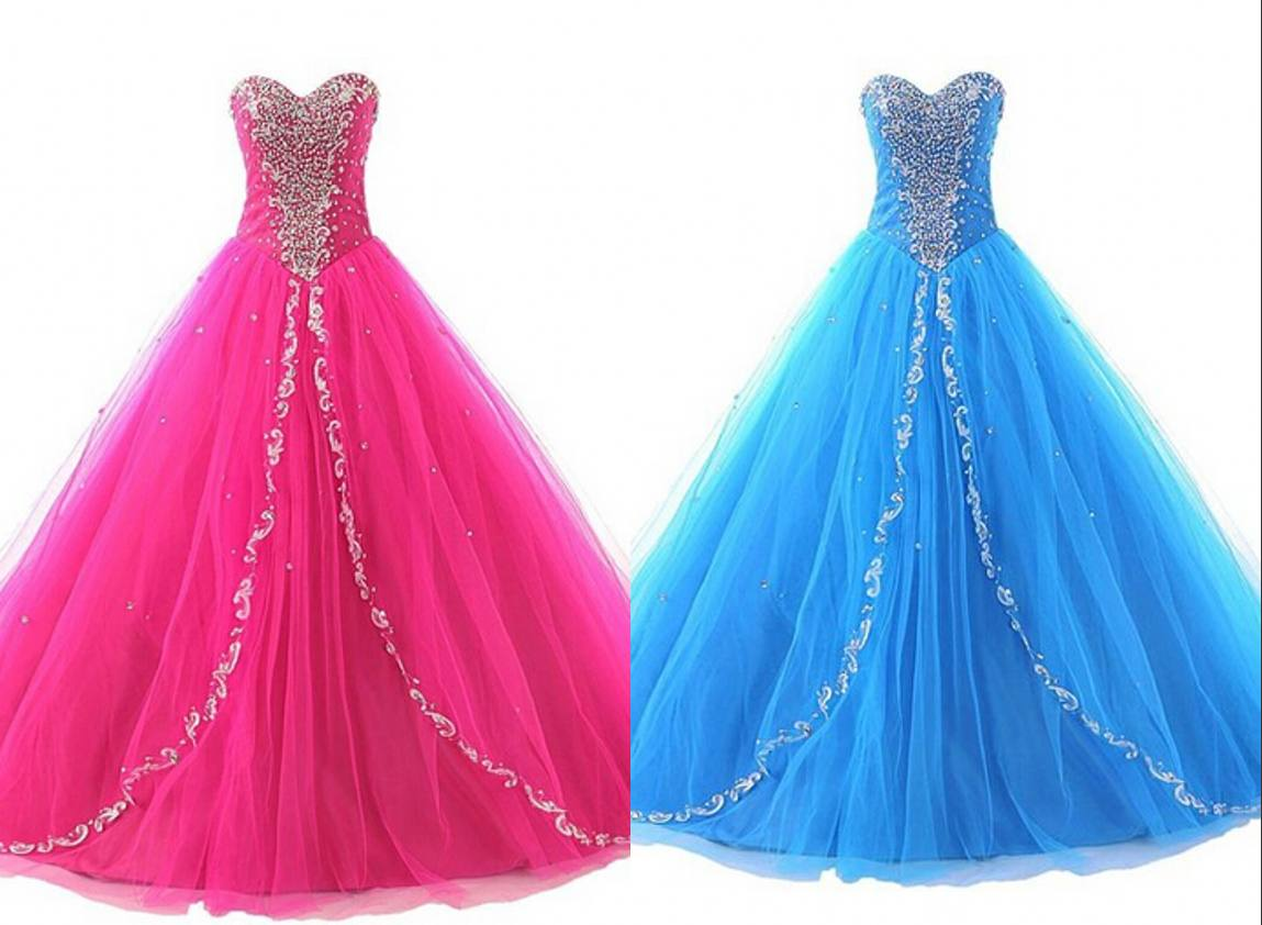 Hot Light Blue Quinceanera Dresses , Sweet 16 Party Dresses , Ball ...