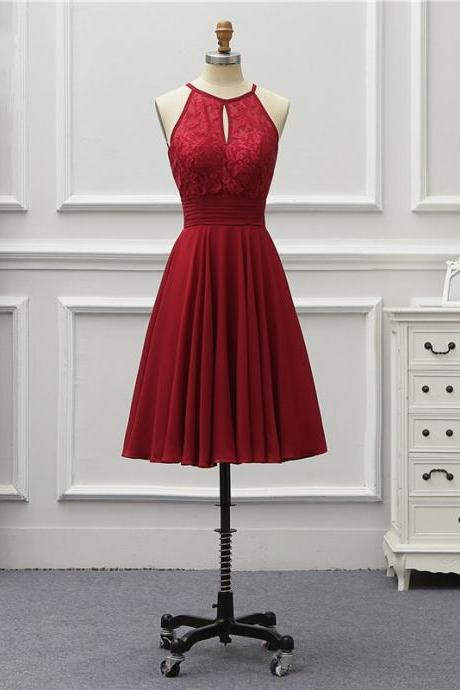 Burgundy Short Bridesmaid Dresses,Party Dress, Formal Occasion Dresses
