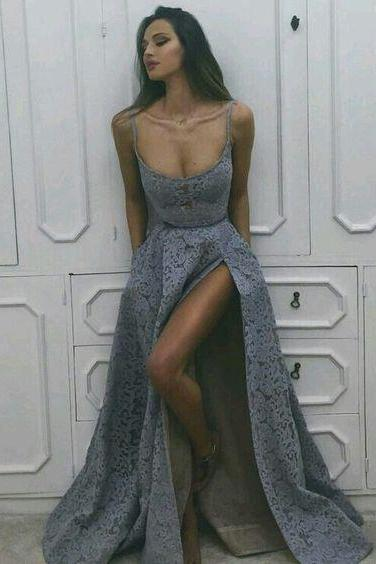 Sexy Prom Dress, Long Prom Dress,Grey Prom Dress, Formal Prom Dress ,Gray Prom Dress, Cheap Prom Dress,dresses evening wear