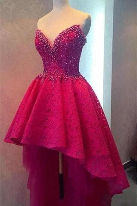 DeSweetheart 2017 Myriam Fares Dresses Evening Off Shoulder Evening Dresses Open Back Hi-Lo Beading Wear Prom Pageant Formal Party Dress Gown