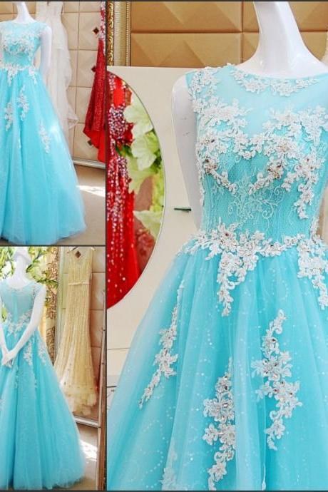 3D-Floral Appliques 2017 A-Line Wedding Dresses Beaded Floor-Length Sequins Pleats Beading Hollow Back Sheer Neck Cheap Bridal Gown Vestido