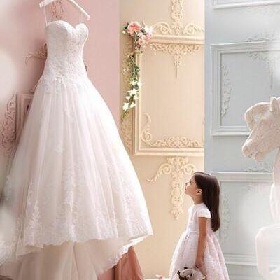 Simple Lace Wedding Dresses Cheap Backless Hi Lo Wedding Dress New Modest Vestidos De Fiesta Banquet Gowns Elegant Gown Appliques Sweetheart