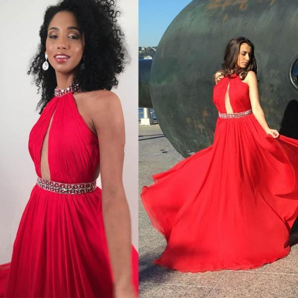 All Red Evening Dresses Evening Wear Long Cheap Red Carpet Dresses 2017 Evening Wear Vestido Celebrity Evening Prom Gowns Formal Party gown
