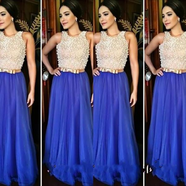 royal blue evening dresses,prom dress,long dress,formal dress,beaded evening dress,beaded prom dress,bow,long evening dress